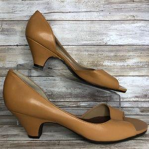 Aerosoles 11M Taupe Semi D'Orsay Dress Sandals